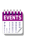 graphic showing an events calendar