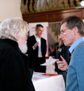 Horizon staff chatting to member of the public at a consultation event in South Gloucestershire